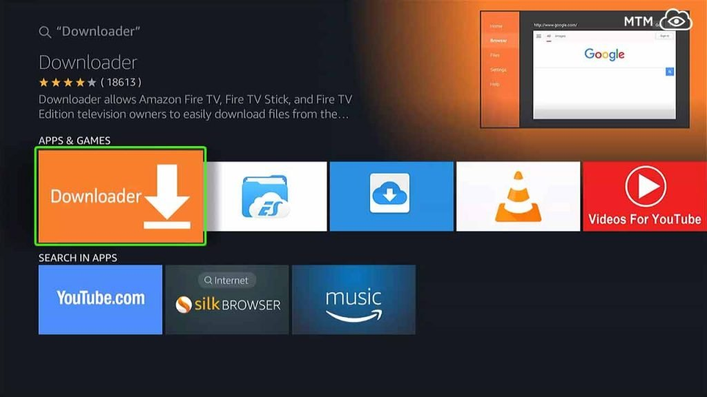 select downloader in apps & games category