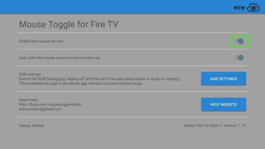 Enable Mouse Toggle on Fire TV or Fire Stick
