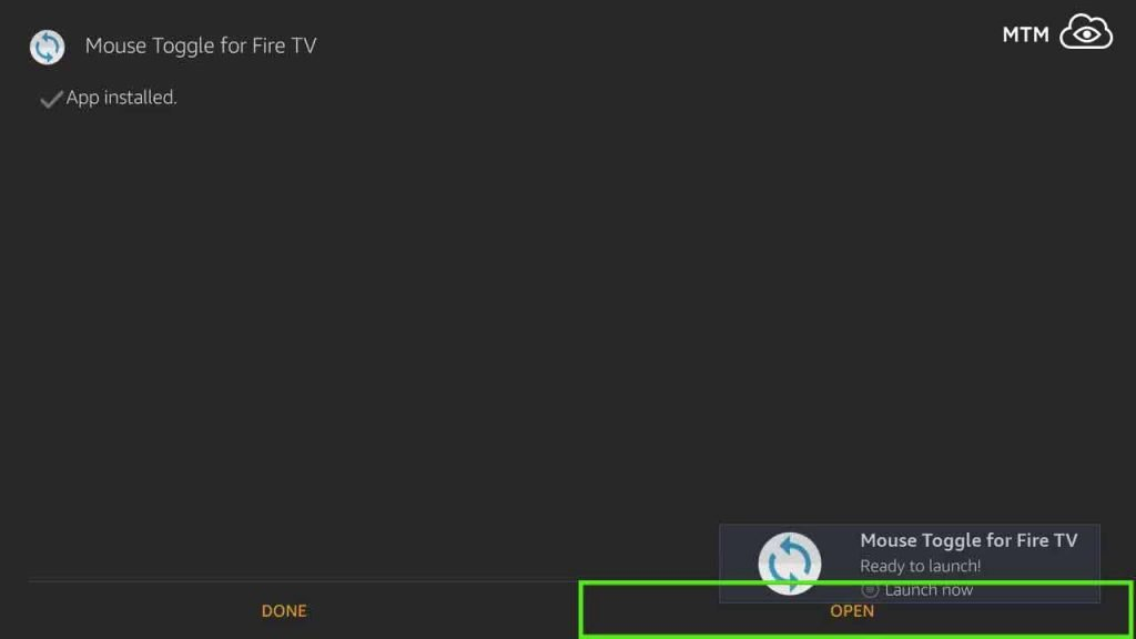 open mouse toggle apk on firestick or fire tv