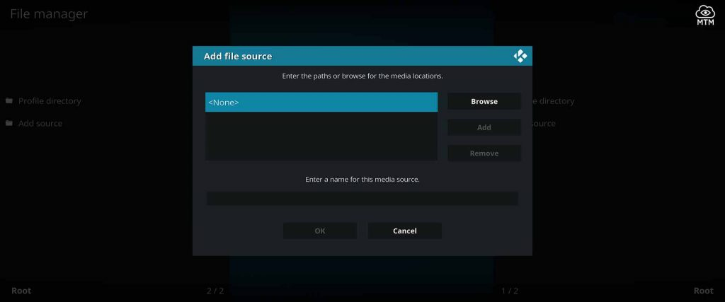 for kodi the netflix repo source location input click none