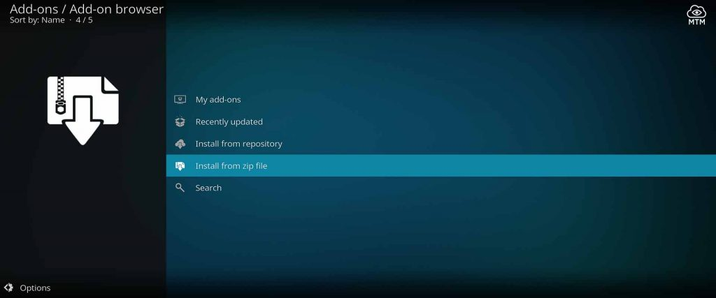 click for supreme builds repo zip file installation in kodi 18 leia