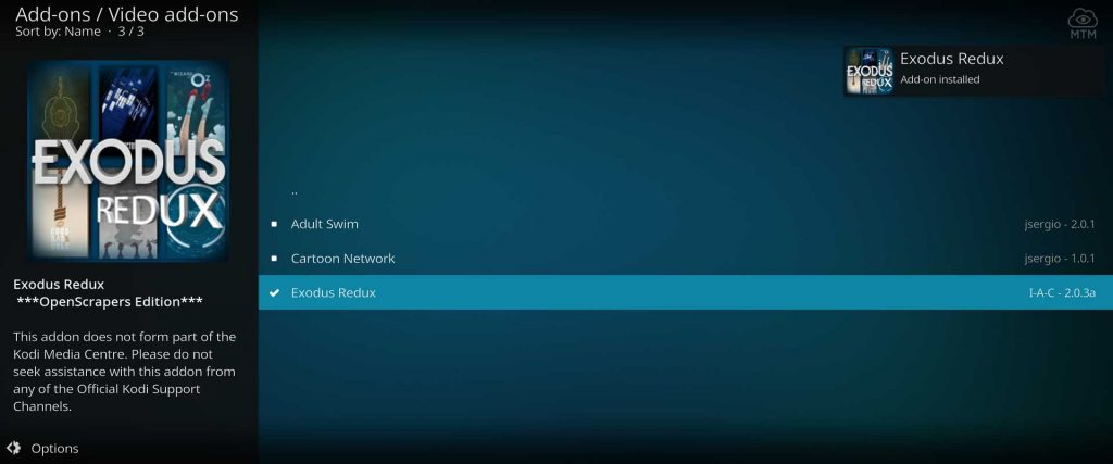kodi firestick exodus redux installed