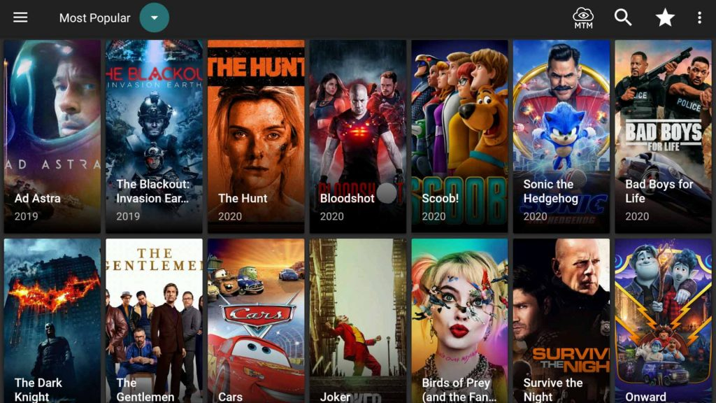 cyberflix tv apk app popular movies category