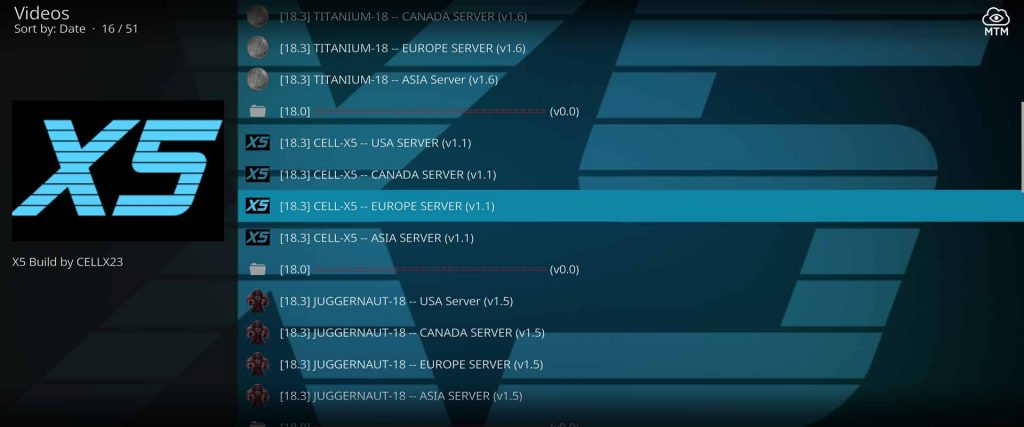 worldwide supreme builds server locations for cell-x5 kodi build