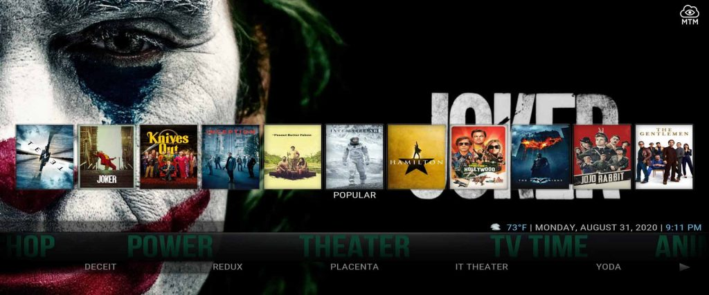 free movie streams in Cell-X5 kodi build from supreme builds